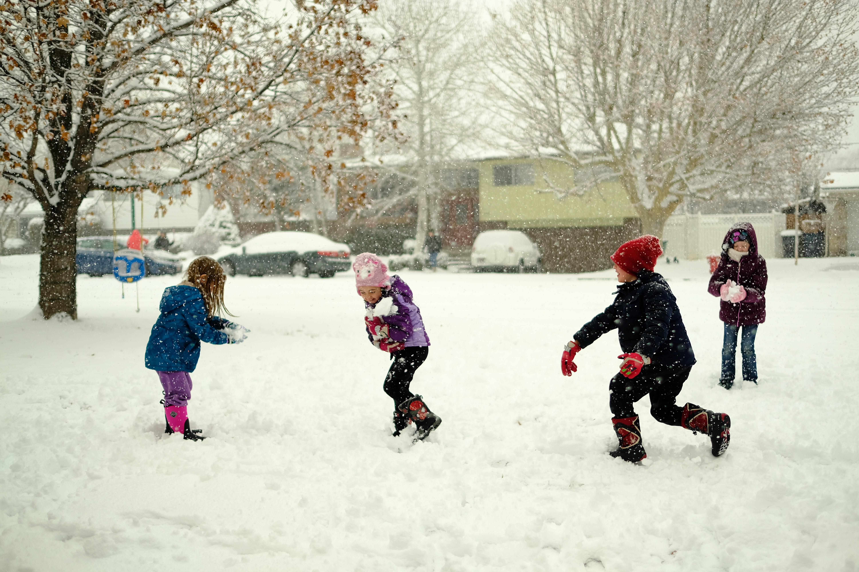 A snowball fight